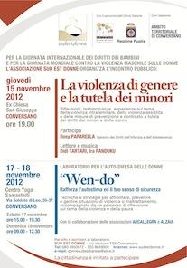 Locandina eventi novembre 2012 Conversano