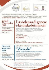 Locandina. Iniziative Martina. Novembre 2012